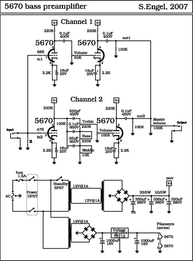tube preamp schematic pdf wire center Passive Preamp Schematic